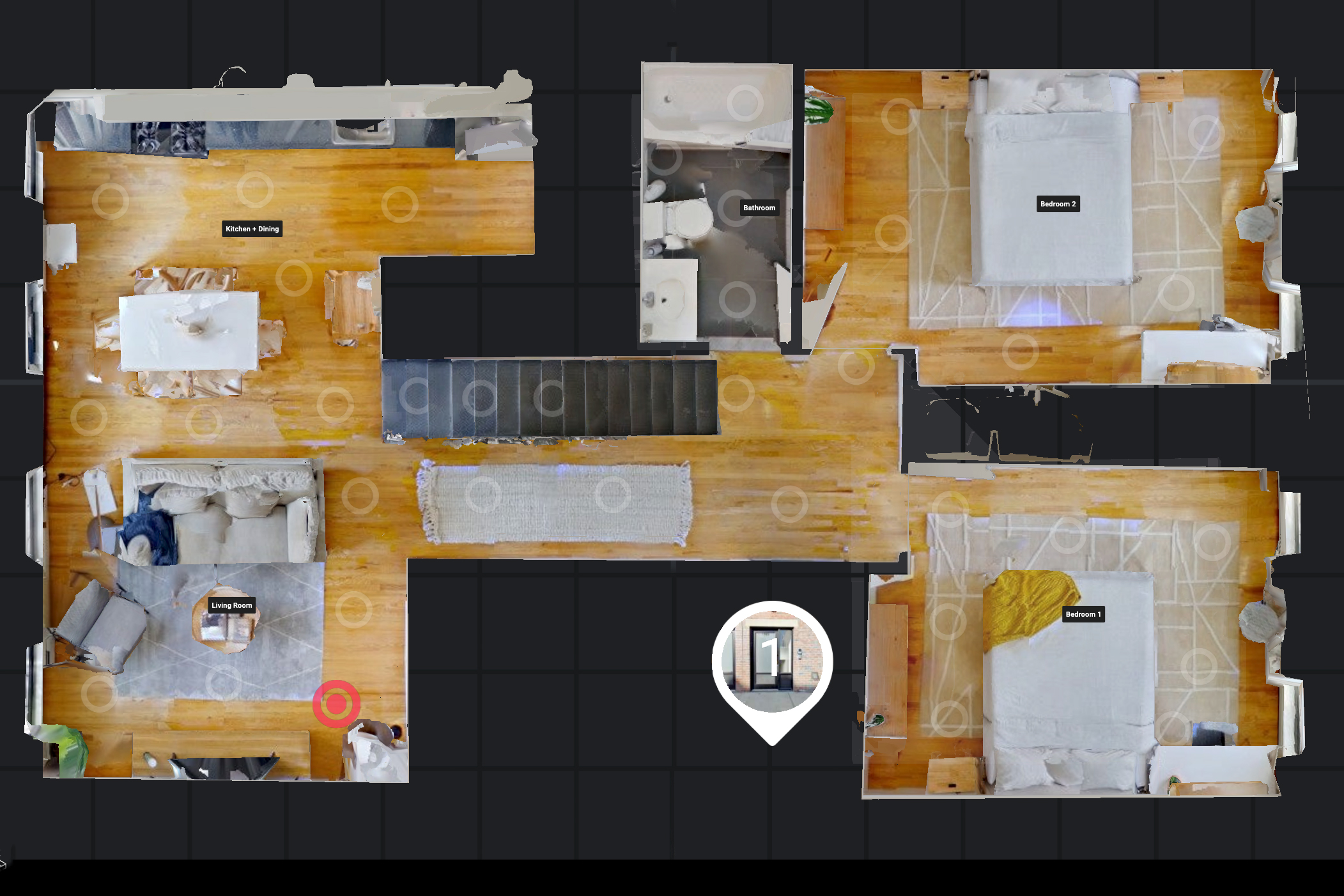 Understand layout in a glance with top-down Floorplan View.