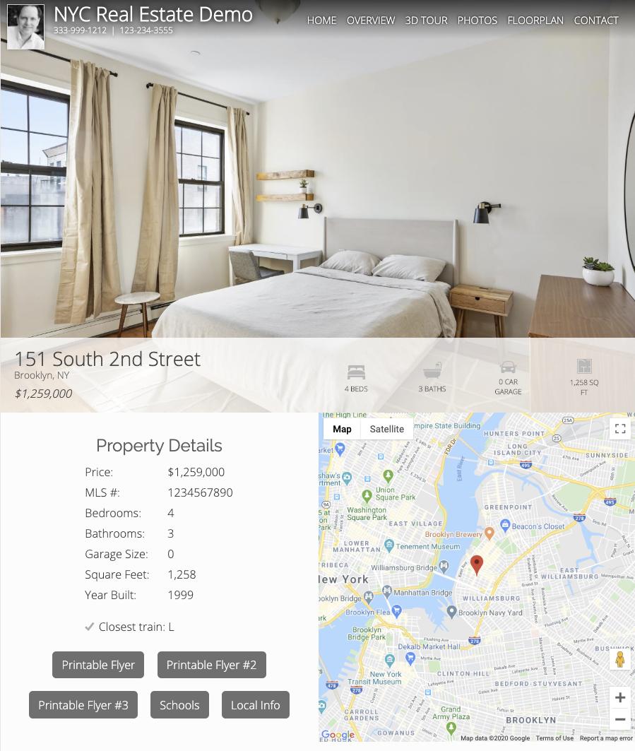 real estate property marketing website